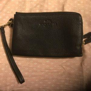 Excellent condition black Coach wristlet
